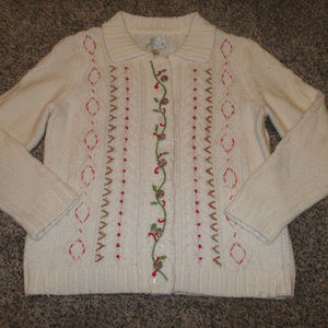 Christopher & Banks Hand Embroidered Cardigan